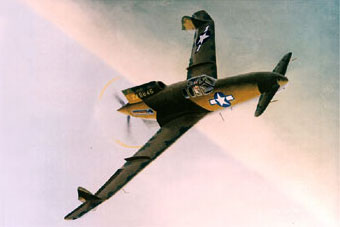 Curtiss XP-55 Ascender Painting