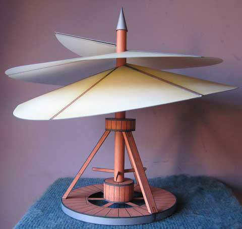 DaVinci Aerial Screw Helicopter paper model