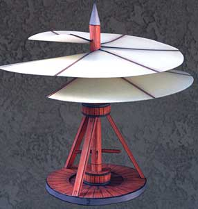 DaVinci Aerial Screw model-featuring sails