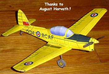 de Havilland DHC-1 Chipmunk paper model
