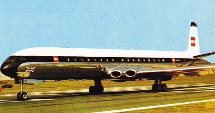 DeHavilland Comet downloadable cardmodel Fiddlersgreen.net