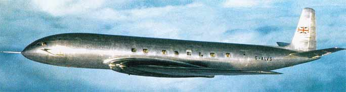 DH.106 Comet from DeHavilland in Britain England worlds first commercial jet airliner Fiddlersgreen.net