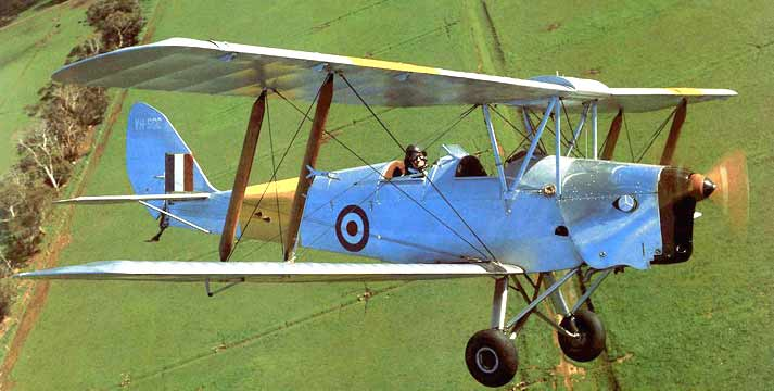 DeHavilland Tiger Moth flying