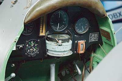 de Havilland Tiger Moth rear cockpit