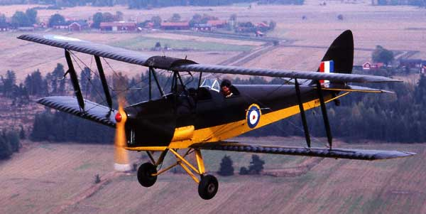 de Havilland Tiger Moth in flight