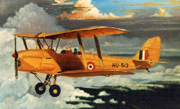 De Havilland Tiger Moth artwork for paper model