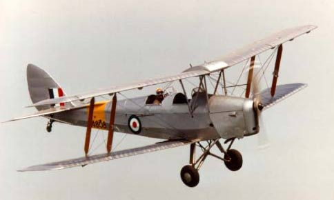 Tigermoth in flight
