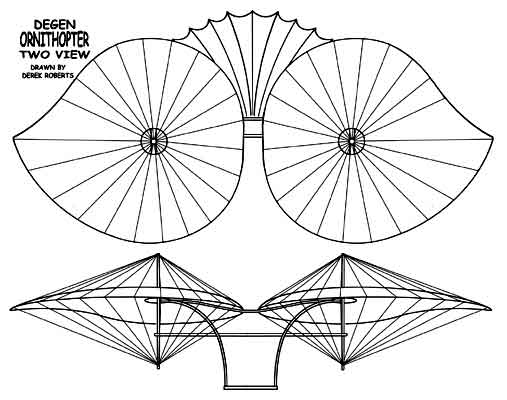 DEGEN Ornithopter two view