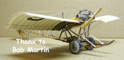 paper model of a Demoiselle Ultra-Lite