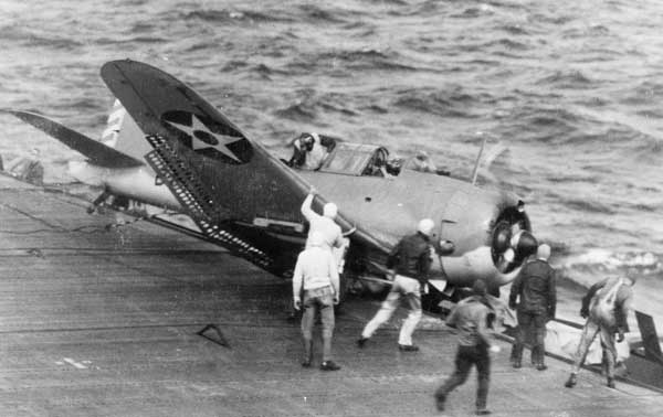 Douglas SBD Dauntless Crash