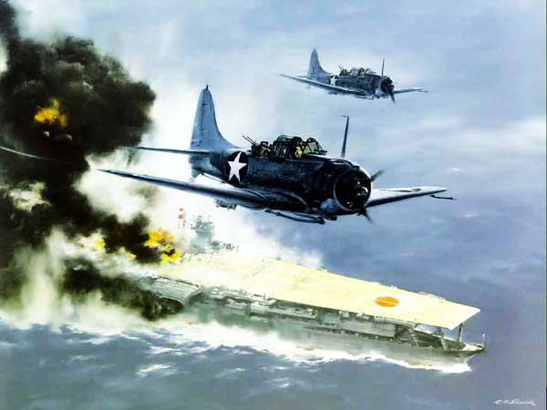illustration for SBD Douglas Dauntless paper model
