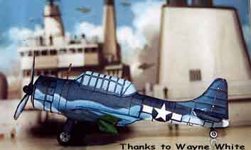 Douglas Dauntless cardmodel by Wayne White