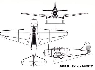 3 View of the Douglas TBD Devastator