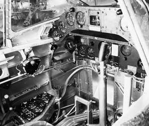 Cockpit of Pre-War Douglas TBD Devastator