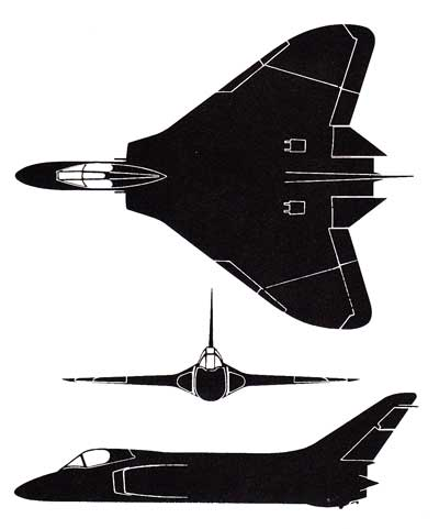 3 View of the Douglas F4D Skyray