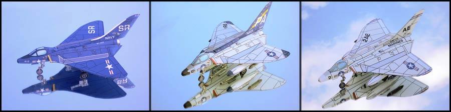 F4D Douglas Skyray paper models