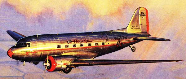 DC - 3 In Flight Painting