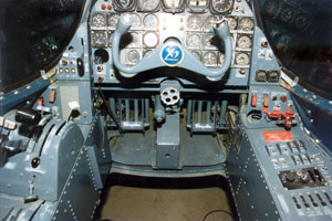 Cockpit of the Douglas X-3 Stiletto