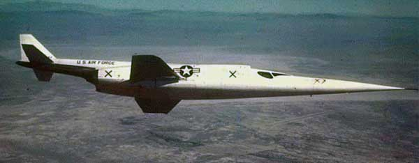 Douglas X-3 Stiletto in flight