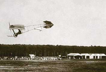 Santos-DuMont' Flying over field