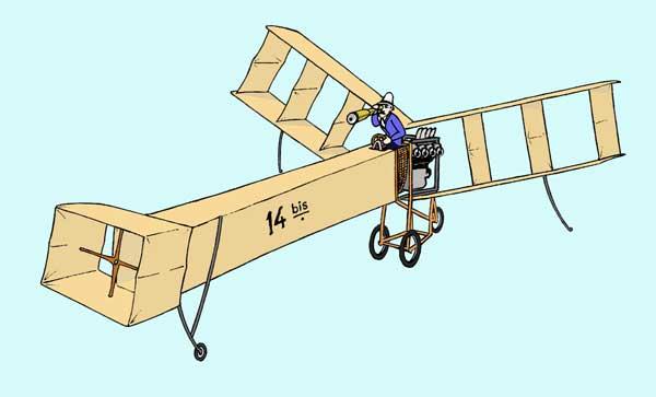 The Santos 14 Bis paper model