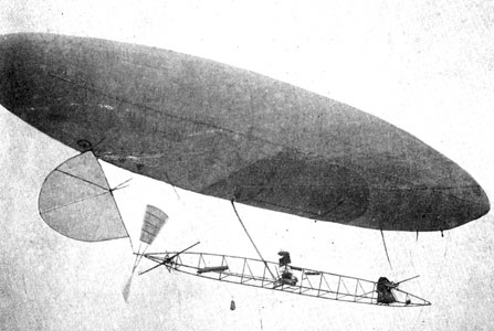 airship #6 in flight