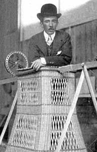 santos dumont in the basket of his personal airship #6