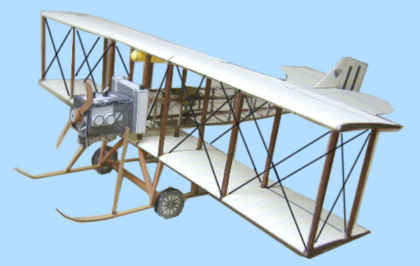 Eardley Billings Biplane paper model