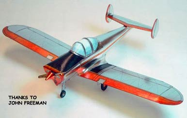 the Classic Ercoupe  paper model airplane