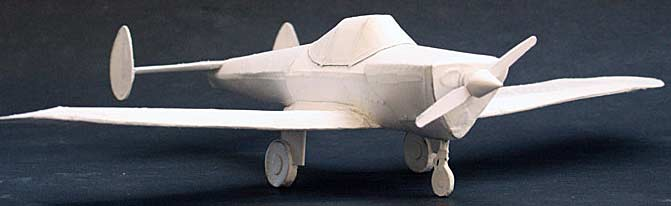 Ercoupe all white cardmodel