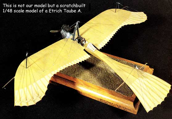 1/48 Scale model of the Etrich Tabue A