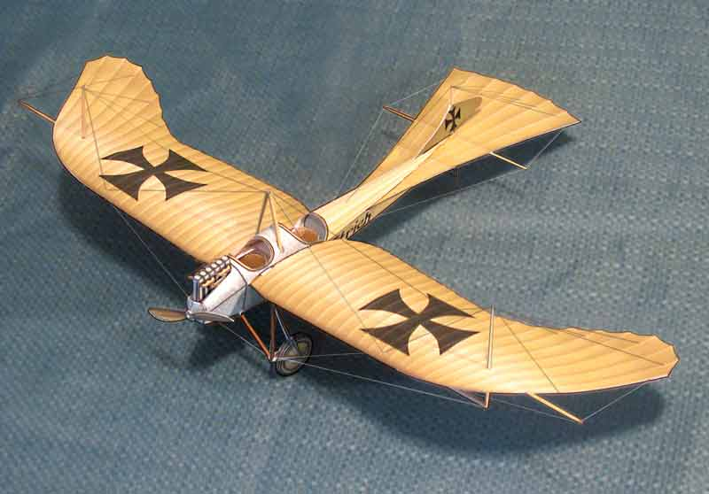 WWI Taube paper model airplane