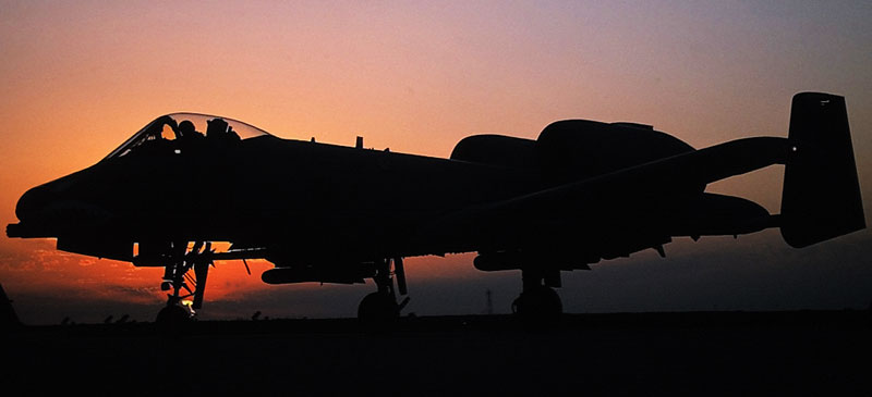 Fairchild A-10 Thunderbolt II Sunset