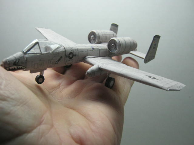 Bobs Micro A-10 in the palm of his hand