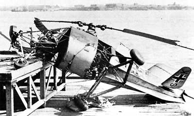 A crashed Flettner 282
