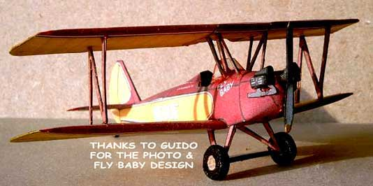 paper model of the Bowers Fly Baby
