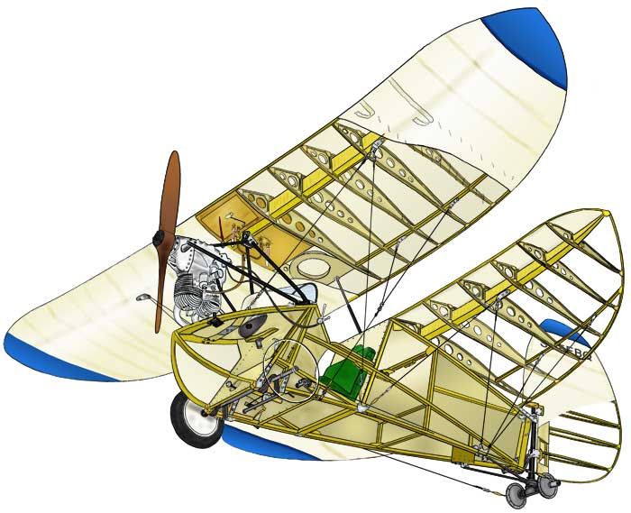 Flying Flea cutaway