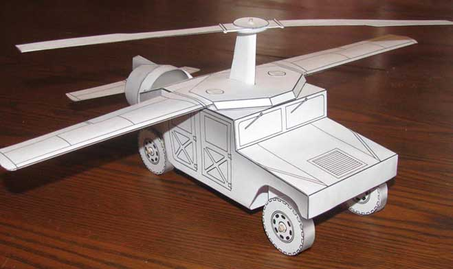 Flying Humvee downloadable cardmodel