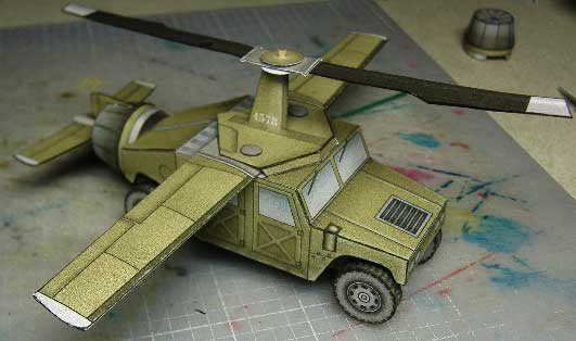 Flying Humvee paper model