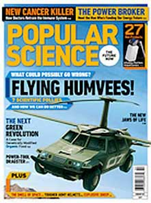 Flying TX Humvee article in Popular Science