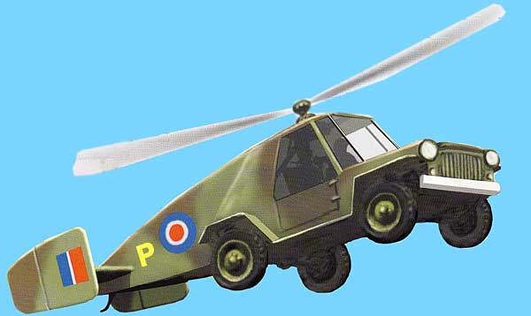 Flying Jeep paper model