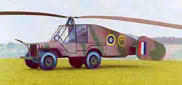 Hafner Rotabuggy Flying Jeep Paper Model
