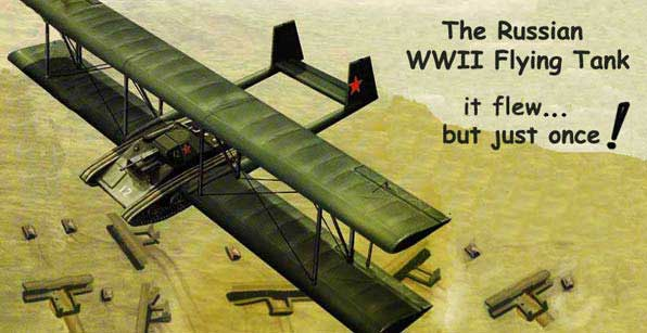 Artists Drawing Of The Antonov A40 Flying Tank Gliding In Over