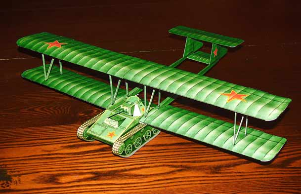 paper model of the Flying Tank