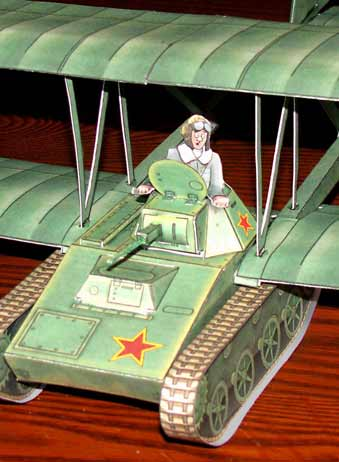 Antonov A40 KT Flying tank cardmodel fiddlersgreen.net Pilot view