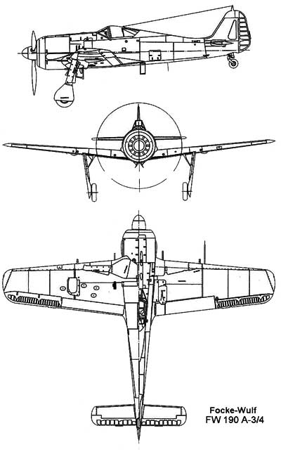 3 View of the Focke Wulf Fw 190