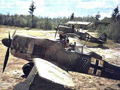 WWII Fw 190 parked