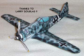 Focke-Wulf FW 190 WWII fighter paper model airplane