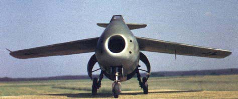 Front view of the FW Ta-183 Huckebein