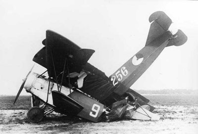 Fokker DVII Crash